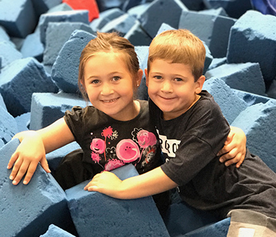 kids in foam pit
